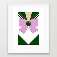 sailor jupiter Framed Art Prints featuring Sailor Jupiter by kscullington | kristina anne