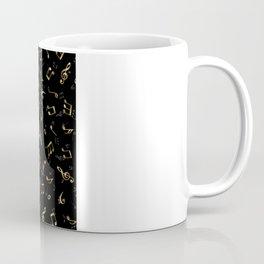 Jazz It Up Music Notes Black Coffee Mug