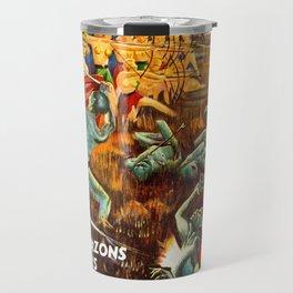 Golden Amazons Of Venus - Vintage Pulp  Magazine Art Print Travel Mug