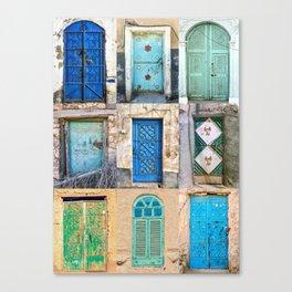 Nine Saudi Doors  Canvas Print