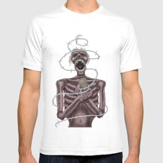 nosferatu MEDIUM White Mens Fitted Tee