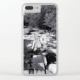 Rocky Shores - Black & White Photography Clear iPhone Case