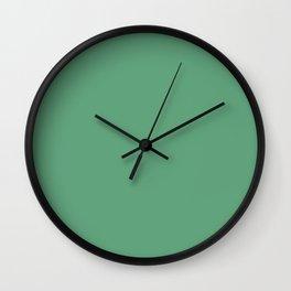 Monotonous, light green, turquoise Wall Clock