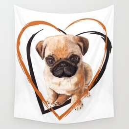 Cute Pug puppy Wall Tapestry