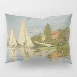 "Claude Monet ""Regattas at Argenteuil"" Pillow Sham"