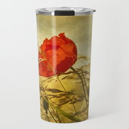 Summer Field with Poppy Travel Mug