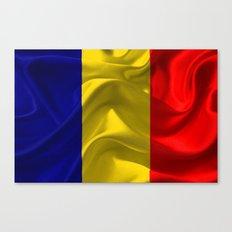 Romania Flag Canvas Print