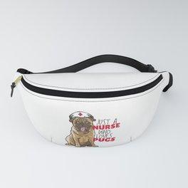 Pug love Nurse Dog  Fanny Pack