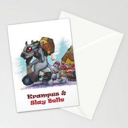 Krampus & Slay Belle Stationery Cards