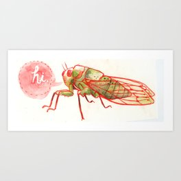 Summer Bug Art Print