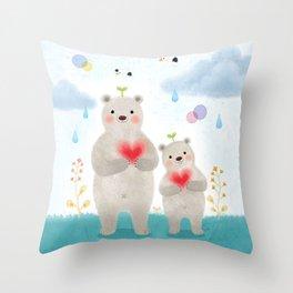 warm heart Throw Pillow