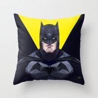 bat man Throw Pillows featuring Bat man by Muito
