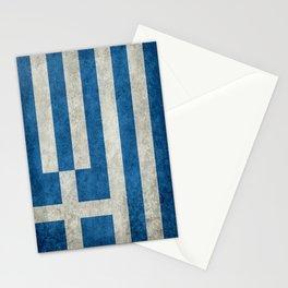 Greek Flag - vintage retro style Stationery Cards