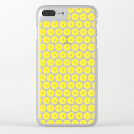 Yellow Gerbera Daisies Illustrated Print Clear iPhone Case