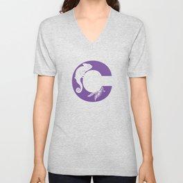 C is for Chameleon - Animal Alphabet Series Unisex V-Neck