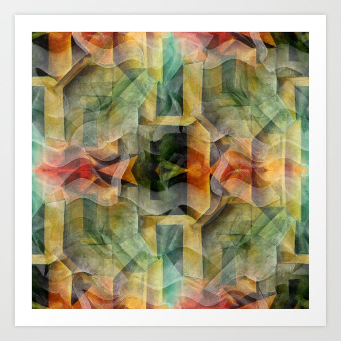 Abstract Cubism Art Print By Christinebssler