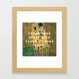Moonage Kiss Framed Art Print