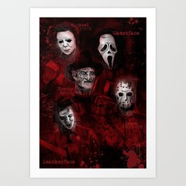 Killer Montage Art Print