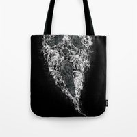 death Tote Bags featuring Death by Adil Siddiqui