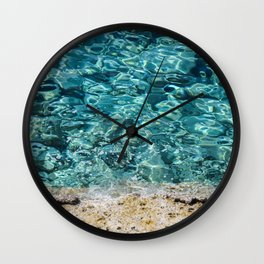 Crystal Blue Ripple Wall Clock