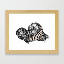 Length Owl - from new zine Framed Art Print