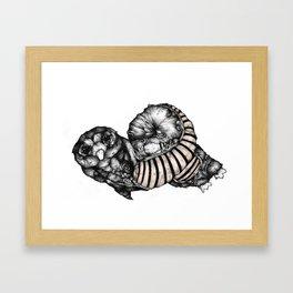 Length Owl - from new zine Framed Art Print