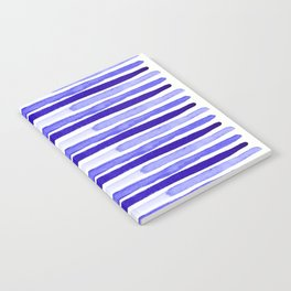 Ultra Violet Watercolour Stripes Notebook