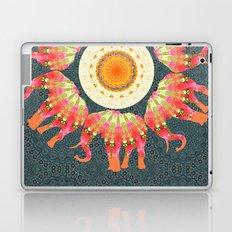 Elephants Parading in Roses Mandala Laptop & iPad Skin