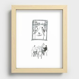 The Dining Club Recessed Framed Print