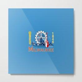 flag of Milwaukee Metal Print