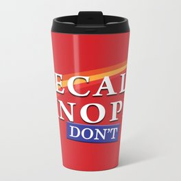 Recall Knope Metal Travel Mug