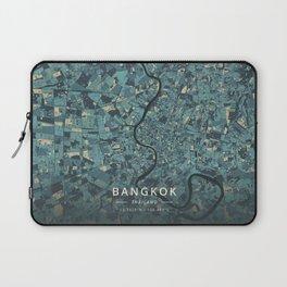 Bangkok, Thailand - Cream Blue Laptop Sleeve