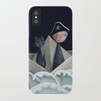 pirate ship iPhone & iPod Cases featuring The Pirate Ship by Fizzyjinks