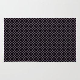 Black and Vintage Violet Polka Dots Rug