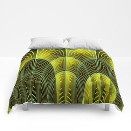 Green feathers Comforters