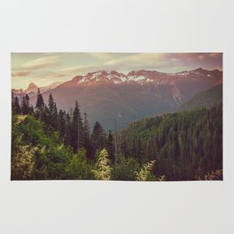 Mountain Sunset Bliss - Nature Photography Rug
