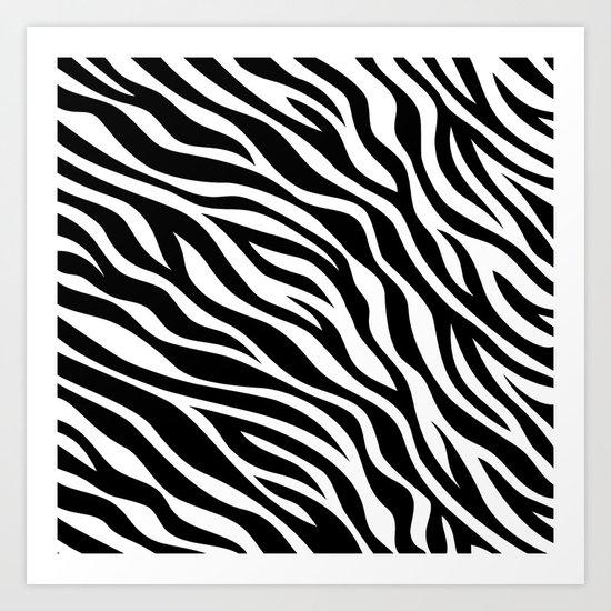 zebra print Art Print