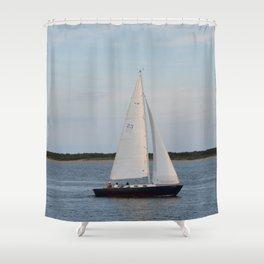 Nantucket Sail boat Shower Curtain