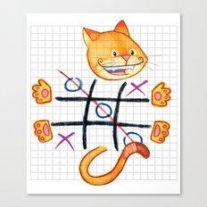Tic Cat Toe Canvas Print