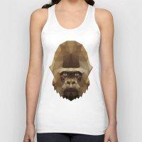 gorilla Tank Tops featuring Gorilla by Taranta Babu