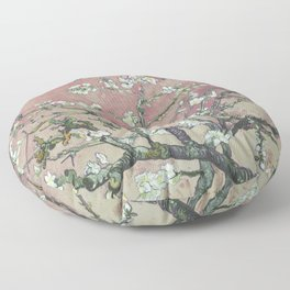 Almond Blossom - Vincent Van Gogh (pink pastel and cream) Floor Pillow
