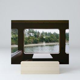 Ferry Ride to Bainbridge Island, WA Mini Art Print