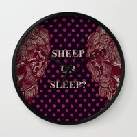 sheep Wall Clocks featuring SHEEP by AKIKO