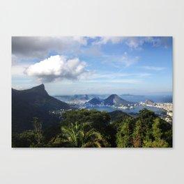 RIO DE JANEIRO THE CITY POSTCARD Canvas Print