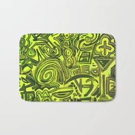 Green symbols Bath Mat