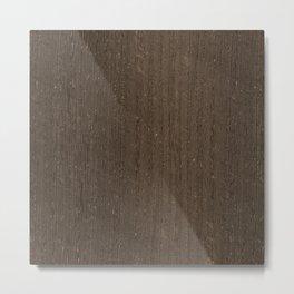 Wenge Wood Metal Print