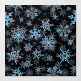 """Embroidered"" Snowflakes Canvas Print"