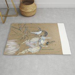 """Henri de Toulouse-Lautrec """"Lucien Guitry et Jeanne Grânier"""" Rug"""