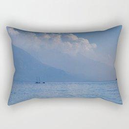 Lake Garda in the Blue Mist Rectangular Pillow