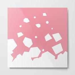 Rockery on Pink Metal Print